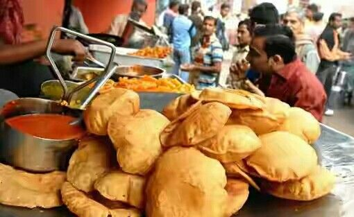 Kachori Sabzi, Puri Bhaji, Sabji, Indian Food.