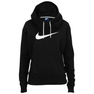 NIKE Women's Shoes - Nike Club Fleece Funnel Hoodie - Womens - Black/White  - Find deals and best selling products for Nike Shoes for Women