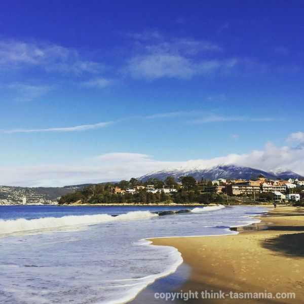 #Bellerive #Beach #Hobart #Tasmania #MountWellington #kunanyi ~ article and photo for think-tasmania.com