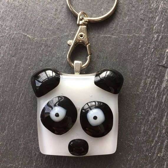 Panda keyring teacher gift panda gift animal key ring