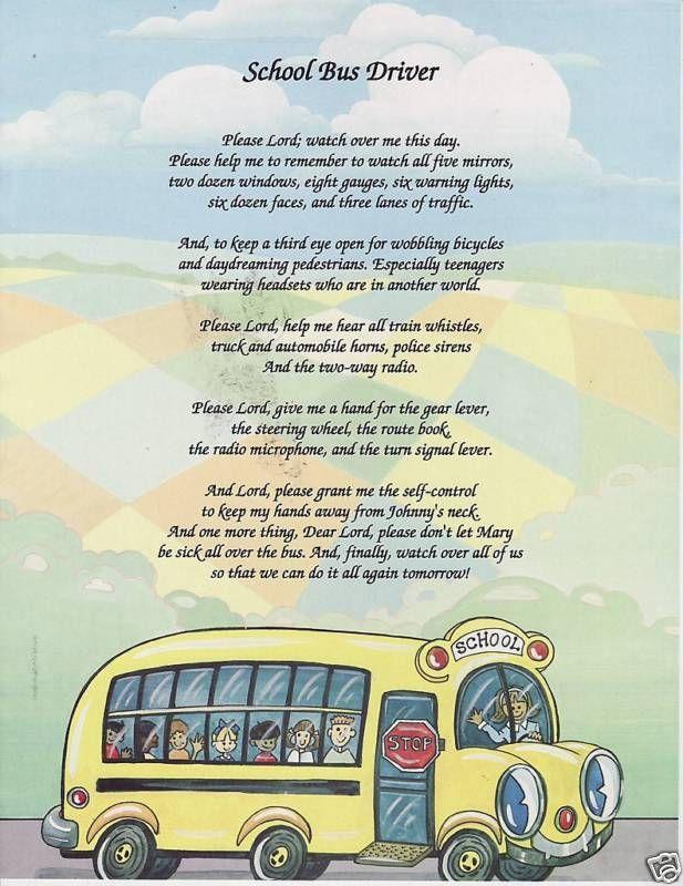 School Bus Driver Poem