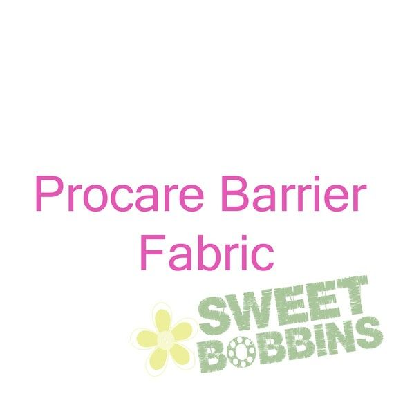 Procare Barrier Fabric  BTY  WHITE  36 inch by Sweetbobbinsfabric, $8.25