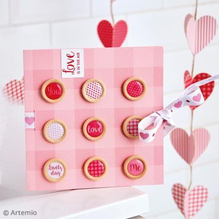 Botones de madera y epoxi - Kiss me - 20 uds - Fotografía n°2