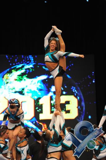Cheer Extreme Senior Elite Worlds 2013 Gabie Dinsbeer is so amazing... she really earned her spot as point flyer... twice