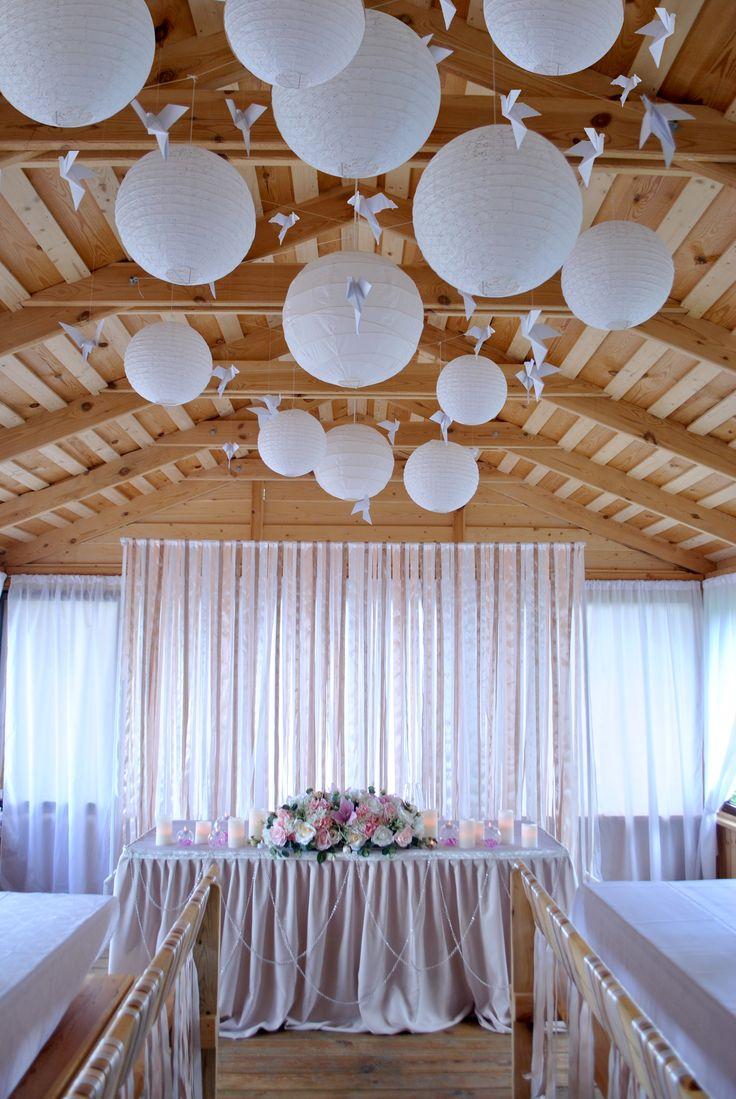Оформление/декор свадьбы/праздника подвесными китайскими фонариками Праздник в усадьбе Логойск Вилла
