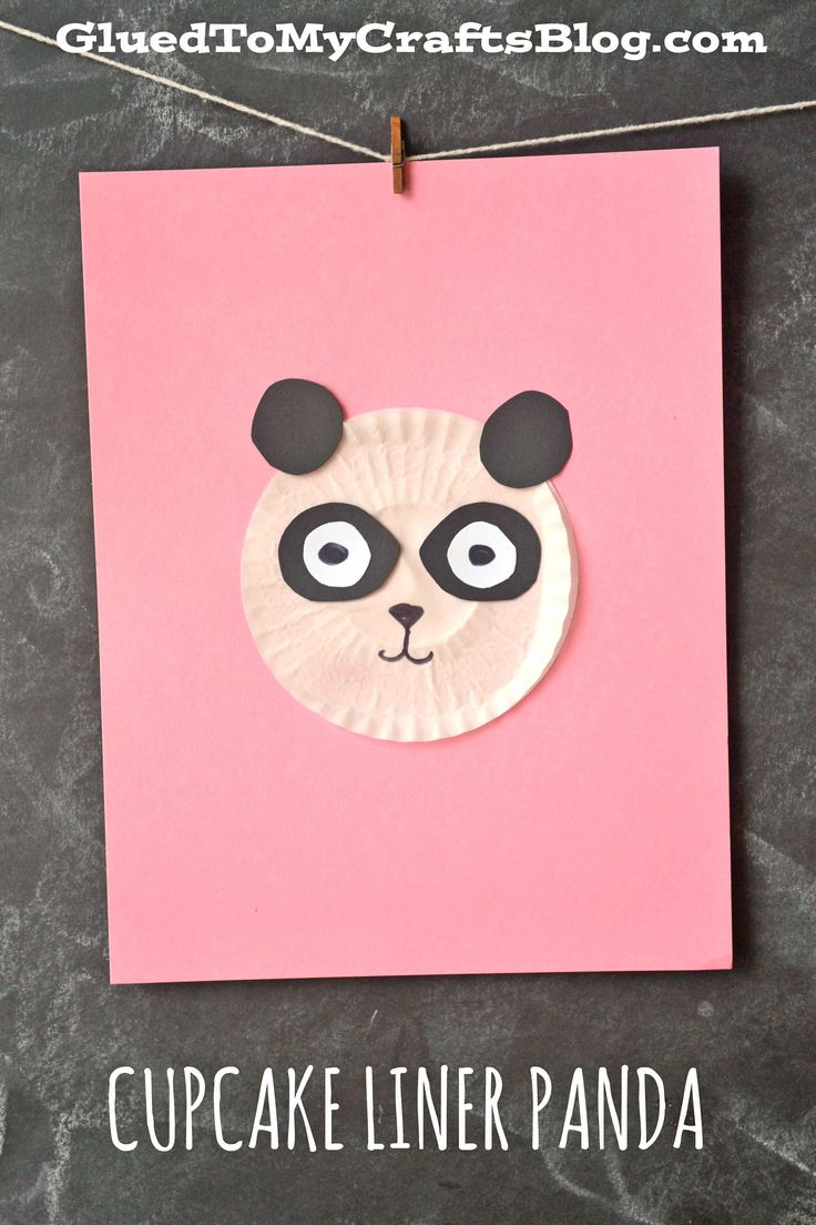 Cupcake Liner Panda - Kid Craft Idea