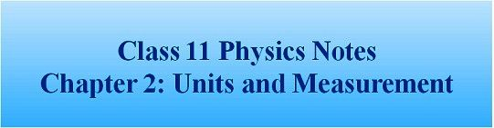 Class 11th Physics NCERT Solutions : Chapter 2 Units and Measurement