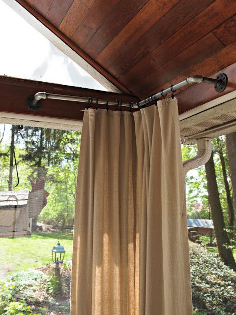 The Painted Home...cool curtain rods for outdoors