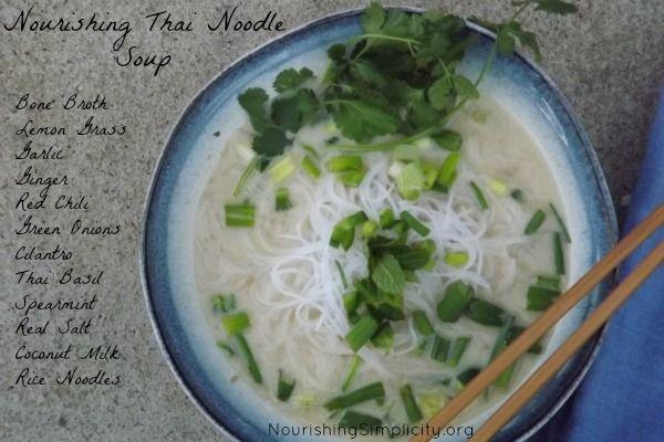 Nourishing Thai Noodle Soup - Nourishing Simplicity