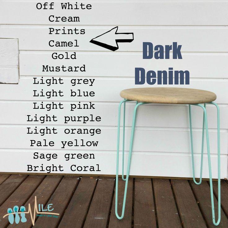 Dark denim goes with...