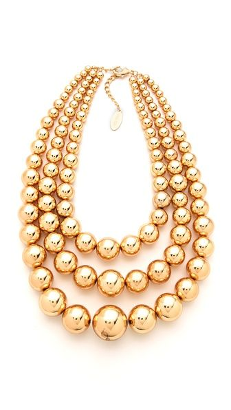 Ball necklace.