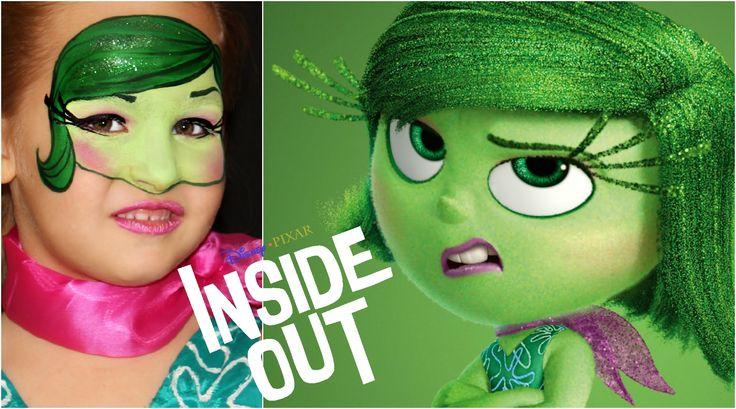 """Inside Out"" Disgust — Face Painting & Makeup Tutorial — Аквагрим ""Голов..."