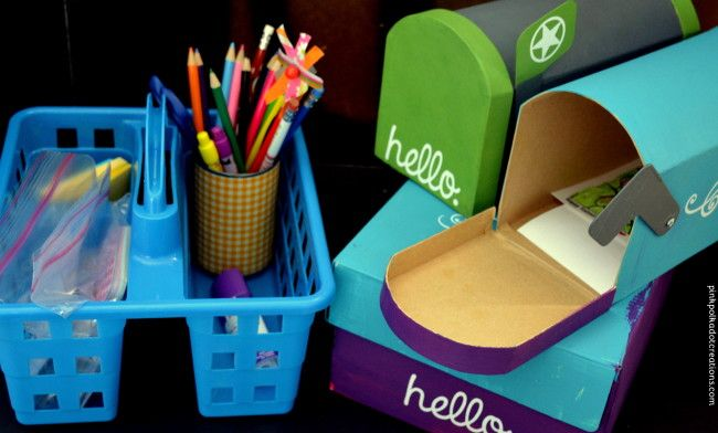 Kid's Mailboxes & Writing Station. A fun way to teach kids reading and writing skills!