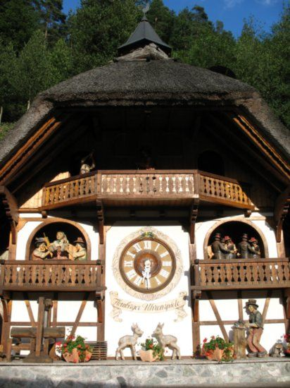 Triberg, Germany Black Forest - largest Cuckoo clock  This part of Germany is…
