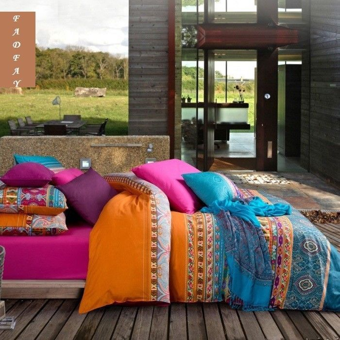 Bohemian Duvet Covers Boho Bedding Sets Western Style Queen Size