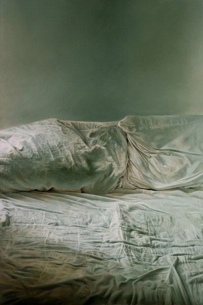 I thought it was the sea!! Helen Masacz | 'Empty Bed', 2011 | oil on board |ITS A FUCKING PAINTING GUYS!