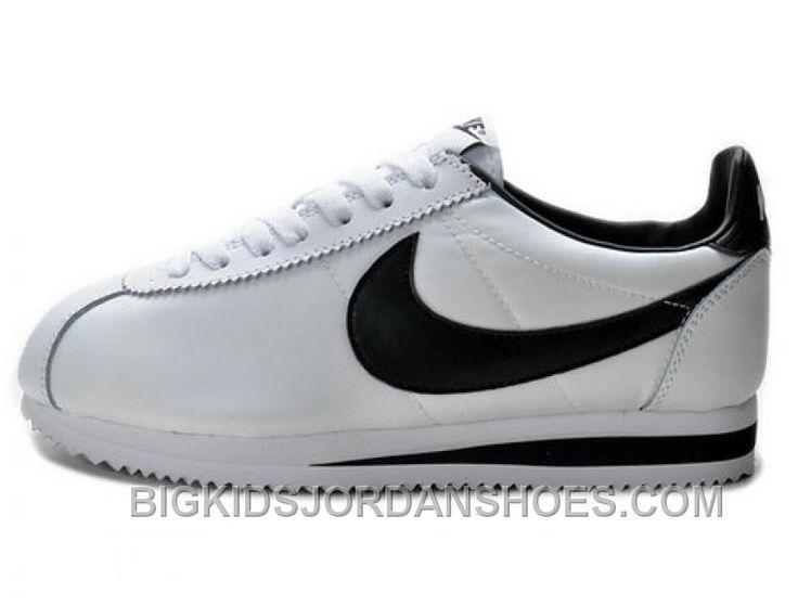 http://www.bigkidsjordanshoes.com/nike-classic-cortez-nylon-white-black-discount-kbc2n.html NIKE CLASSIC CORTEZ NYLON WHITE BLACK DISCOUNT KBC2N Only $52.26 , Free Shipping!