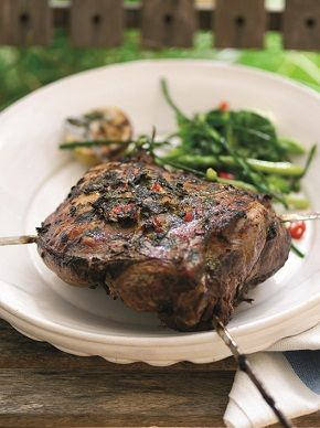 Leg of #WelshLamb with coconut chilli and coriander. 238 kcal per serving.