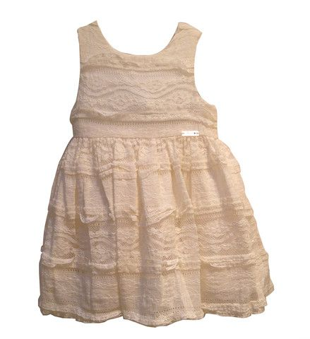 Mayoral Baby Girl Lace Dress Ivory  In beautiful ivory hue this pretty lace dress from Mayoral is a charming choice for your little girl. Ideal for weddings, parties and any other special occasions.
