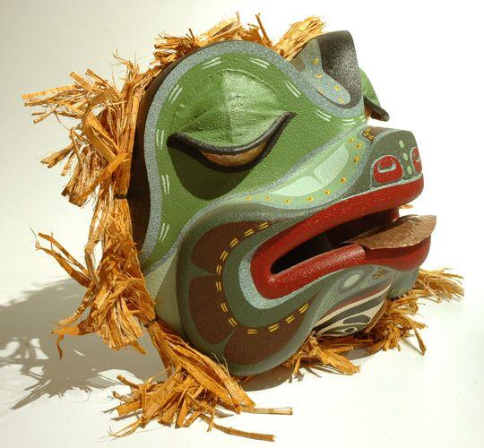 Frog Mask by Donald Svanvik, Kwakwaka'wakw artist (W80304)