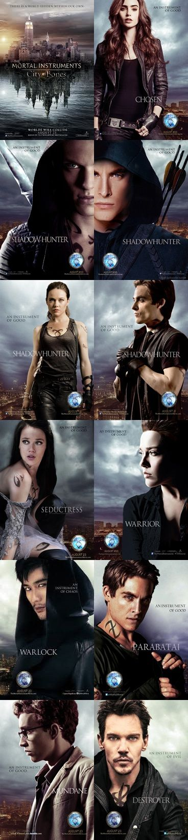 TMI : Clary Fary - Jace Wayland - Alec Lightwood - Isabelle Lightwood - Simon Lewis - Valentine Morgenstern - Magnus Bane