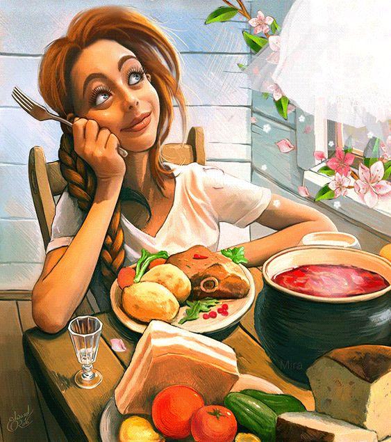 Прикольные картинки с едой для женщин, троллей смешных анимация
