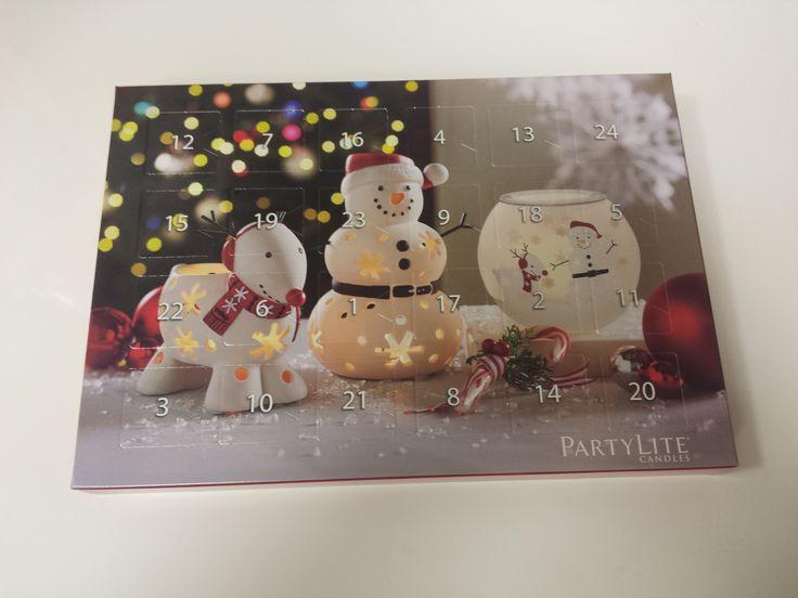 PartyLite Adventný kalendár s 24-mi čajovými sviečkami