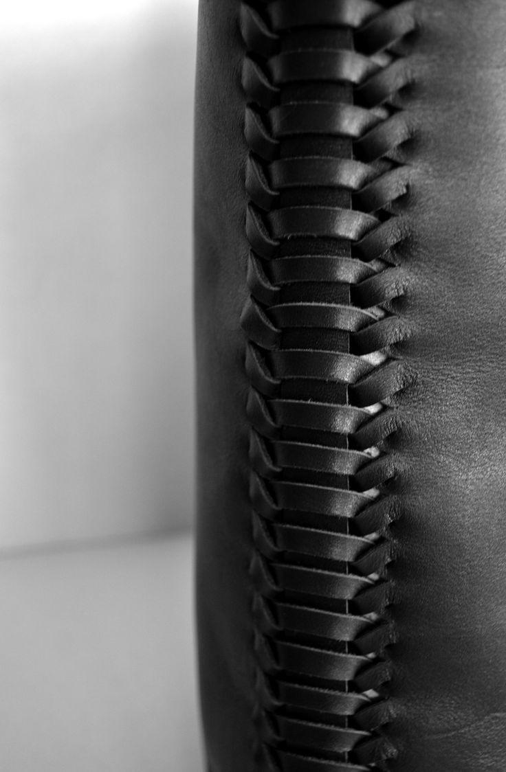 Fabric Manipulation - handbag detail with woven seams - textiles techniques; modern weaving // Judith van den Berg (scheduled via http://www.tailwindapp.com?utm_source=pinterest&utm_medium=twpin&utm_content=post87979489&utm_campaign=scheduler_attribution)