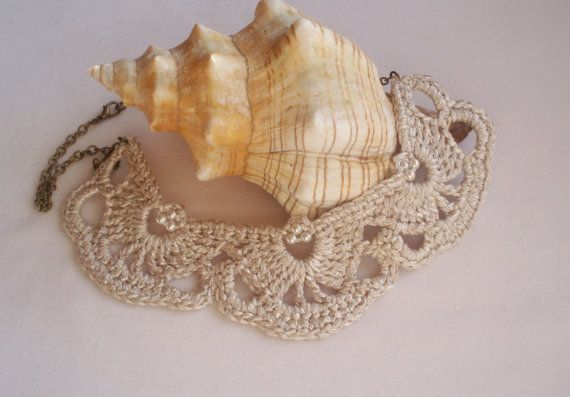 Collana da sposa perla collana argento collana di DIDIcrochet