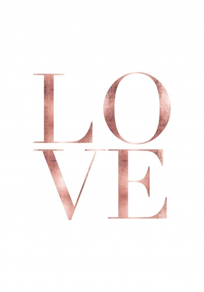 Love rose gold | Poster | artboxONE