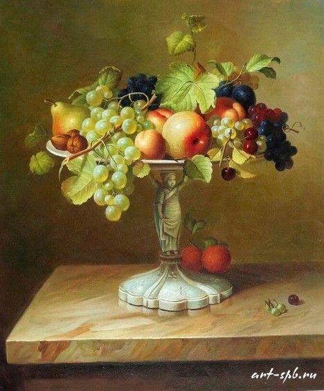 Картинки по запросу фрукты в вазе фото