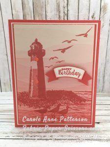 High Tide - Sneak Peek - Birthday Card using Serene Scenery DSP