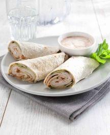 Wrap met kip en yoghurt-knoflooksaus, NewFysic | Moeiteloos afslanken