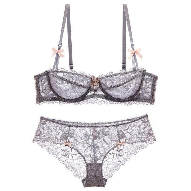 High end brand romantic temptation lace bra set women's underwear set push up loading bra and panty set plus size 70 95ABCD