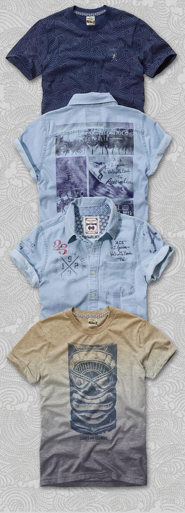 Gold Coast - Menswear  Fashion Branding & Graphics by Richard Schonegevel, via Behance http://happyluckyfun.com/140106/3926460/recent-work/gold-coast-menswear-fashion-branding-graphics