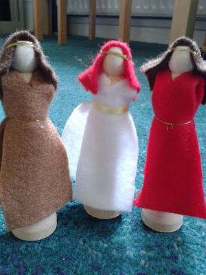 No-Sew Peg Characters for Telling Bible Stories