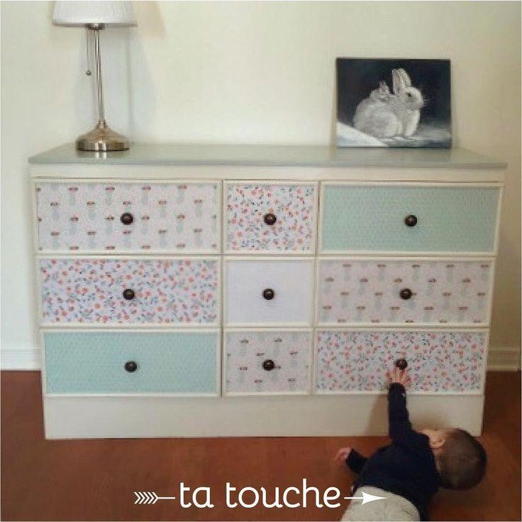 Commode pour chambre de petite fille par ta touche - relooking de meubles