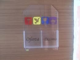 Porta-envelope - duas repartições. Colocamos qualquer logomarca GRÁTIS. www.tudoparaigreja.com.br