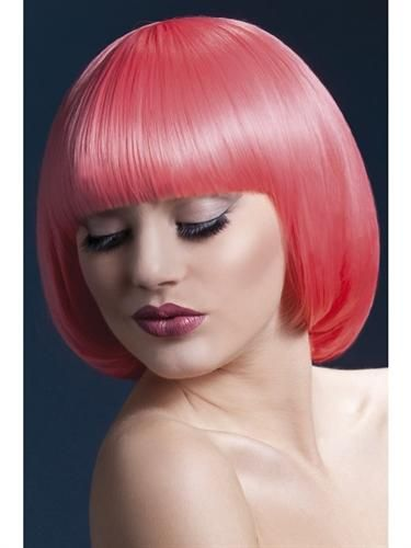 Patel Coral short bob with fringe. Heated styling tool compatible. Heat resistant up to 120 degrees celcius to 248 degrees fahrenheit. Fully adjustable wig cap