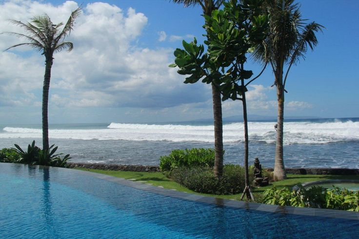 The waves... Stunning view in front of Puri Salila #AnapuriVillas #Bali