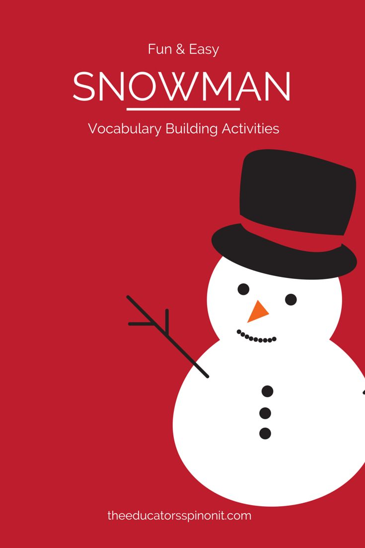 3 Fun & Easy Snowman Vocabulary Activities for Preschool: Playing with words to strengthen early literacy #PLAYfulpreschool