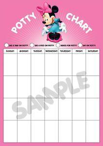 minnie potty chart   Minnie Mouse Potty Training Reward Chart (LARGE A3)   eBay
