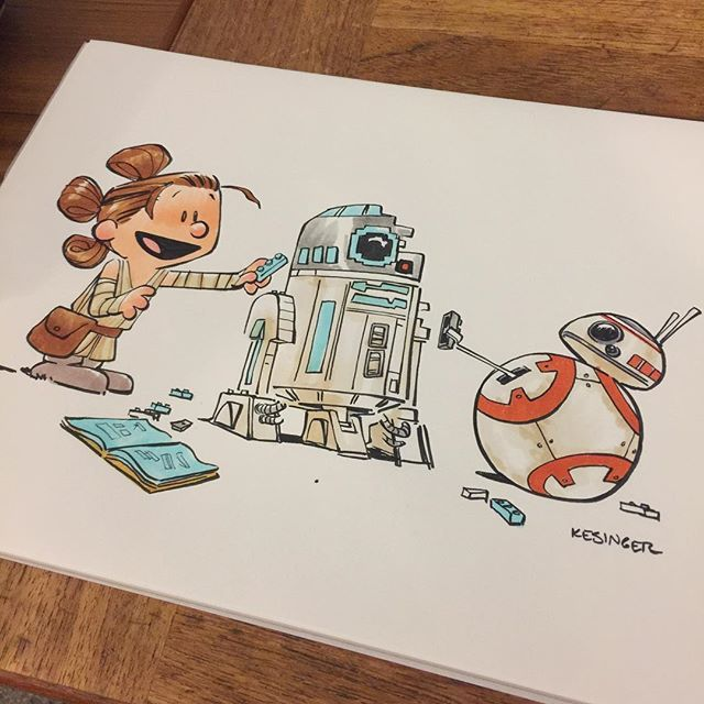 Two of many favorite things: lego and Star Wars! Etsy commission #rey #bb8 #r2d2 #lilkylo
