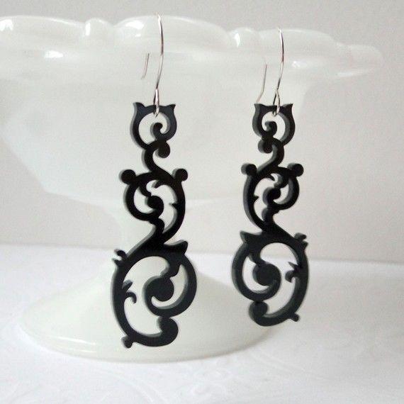 Popular items for swirl earrings on Etsy