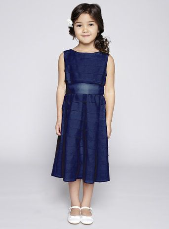 Scarlett Navy Flower Girl Dress