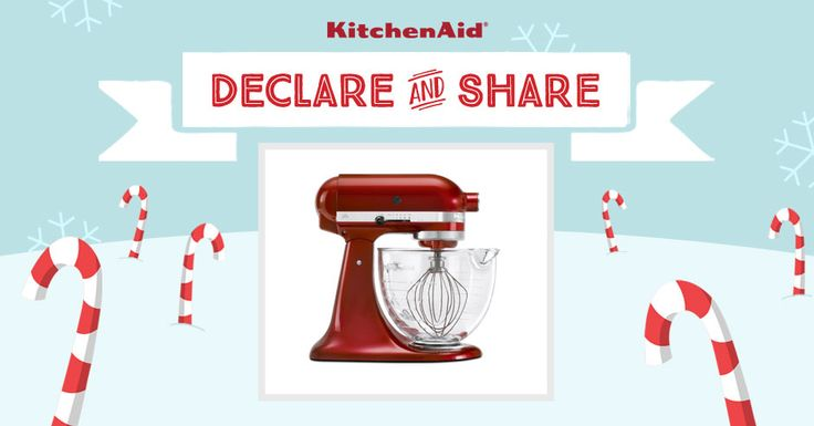 All I want for Christmas is the KitchenAid Architect® Stand Mixer in Candy Apple Red! Declare & Share the KitchenAid small appliance on your wish list, and you could win it! http://declareandshare.ca/