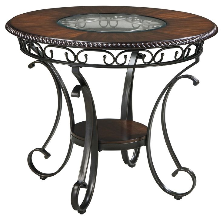 Glambrey Round Dining Room Counter Table With Metal Accents By Signature Design Ashley Part Of