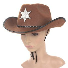 Cowboy Hat Western Sheriff Hat Fancy Dress Cowboy Themed Birthday Halloween Christmas Party Costume Tag a friend who can pull this off! #Zombie #Halloween #Costume