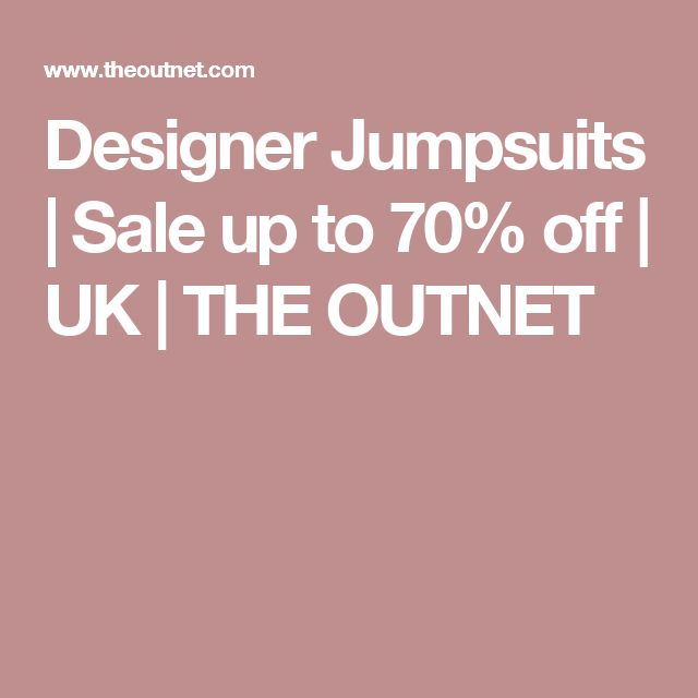Designer Jumpsuits | Sale up to 70% off | UK | THE OUTNET