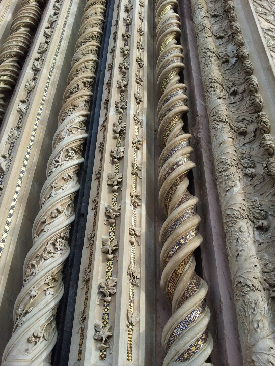 Particolare della cattedrale di Orvieto